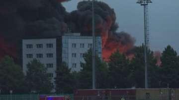 Пожар в химически завод във френския град Руан
