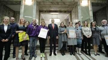 Президентът беше домакин на връчването на наградите в Доброволческа инициатива
