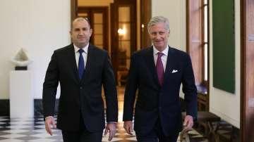 Президентът Румен Радев на аудиенция при краля на Белгия