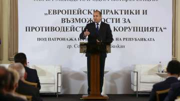 Президентът Румен Радев критикува ефективността от борбата с корупцията