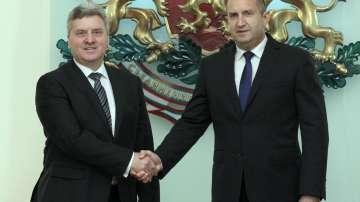 Президентът Румен Радев се срещна с македонския си колега Георге Иванов