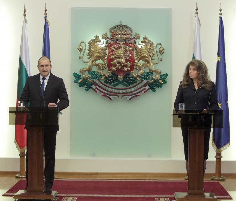 Президентът Румен Радев и вицепрезидентът Илияна Йотова отчетоха първата година