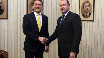 Президентът Румен Радев се срещна с македонския външен министър