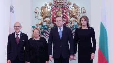 Президентът на Малта на държавно посещение у нас