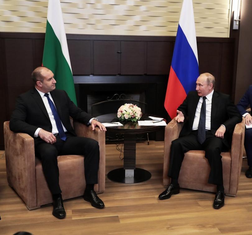 Румен Радев се срещна с руския президент Владимир Путин
