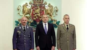 Президентът връчи висши офицерски звания