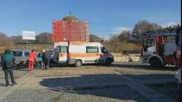 Работник пострада при пожар под купола на Пантеона в Русе