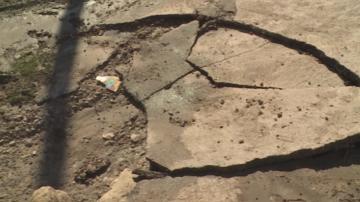 Частично разрушени пътища след бурята в Русенско