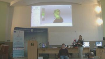 Учени от Русенския университет сканираха човешко лице