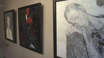Размисъл в черно и червено - изложба на акад. Светлин Русев