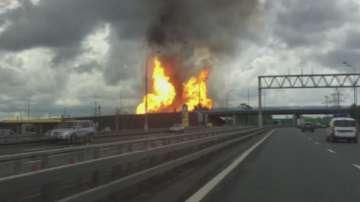 Пожар избухна в ТЕЦ край Москва
