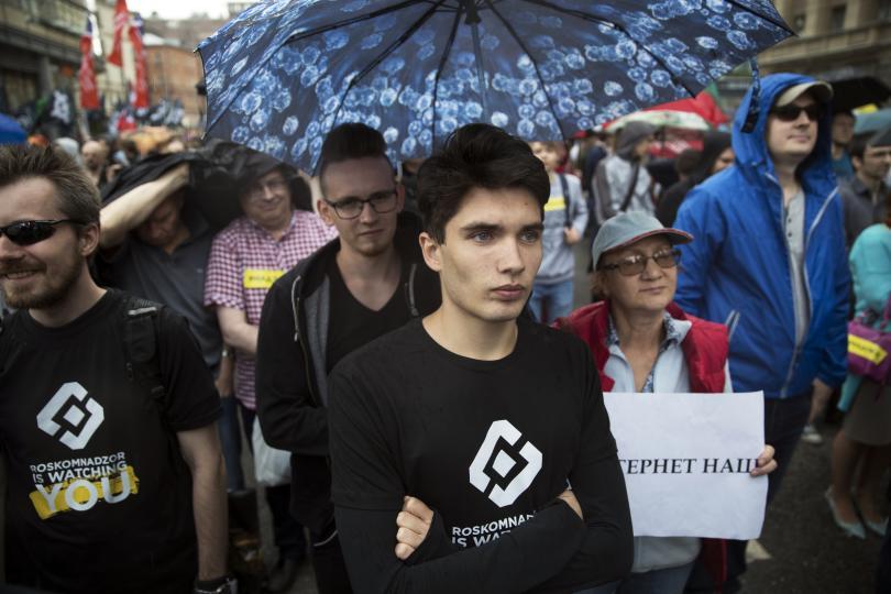 около 1000 души протестираха москва ограниченията интернет