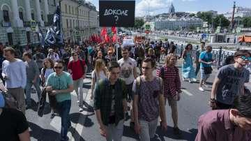 Демонстрация против цензурата в интернет в Москва