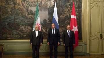Външните министри на Русия, Турция и Иран се срещнаха за кризата в Сирия