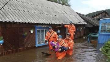 Петима души загинаха при наводненията в руската Иркутска област