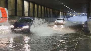 Проливни дъждове заляха района на австрийския град Залцубрг