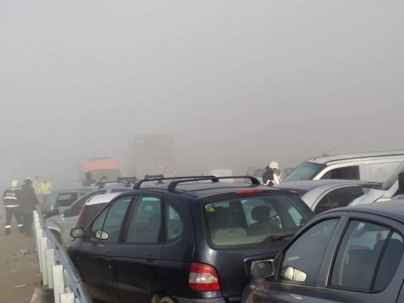 снимка 1 Тежка катастрофа край Сандански, има загинал и много пострадали (СНИМКИ)