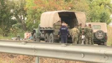 Сапьори обезвредиха мината, открита до пътя Русе - Силистра
