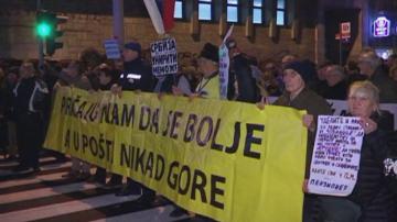 Една година антиправителствени протести в Сърбия