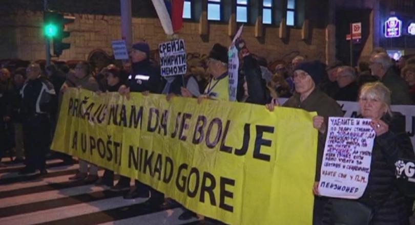 В Белград отбелязаха една година антиправителствени протести.Първото шествие беше организирано