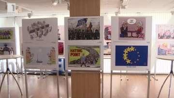 """Изложбата """"Европа на карикатуристите"""" беше открита в Дома на Европа"""