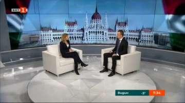 Унгарският външен министър Петер Сиярто в специално интервю за БНТ