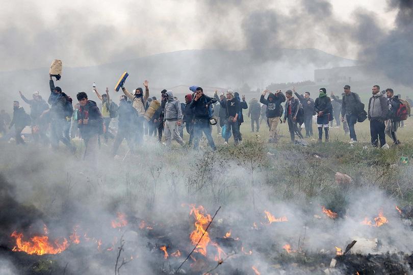 сблъсъци полиция мигранти северната граница гърция
