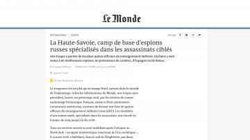 Льо Монд: Френските Алпи са били база на руски шпиони, действали и в България
