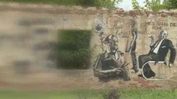 Картини на известни художници по стените на село Старо Железаре