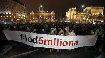 Цяла нощ продължиха антиправителствените протести в Сърбия