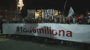 Десети пореден уикенд на протести срещу сръбския президент Вучич