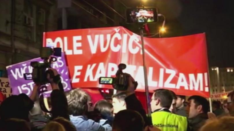 Снимка: Отново протест в Сърбия срещу президента Вучич
