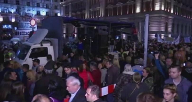 И тази вечер в Сърбия се провеждат протести на организацията