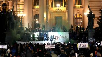 Отново протести в Сърбия срещу президента Александър Вучич