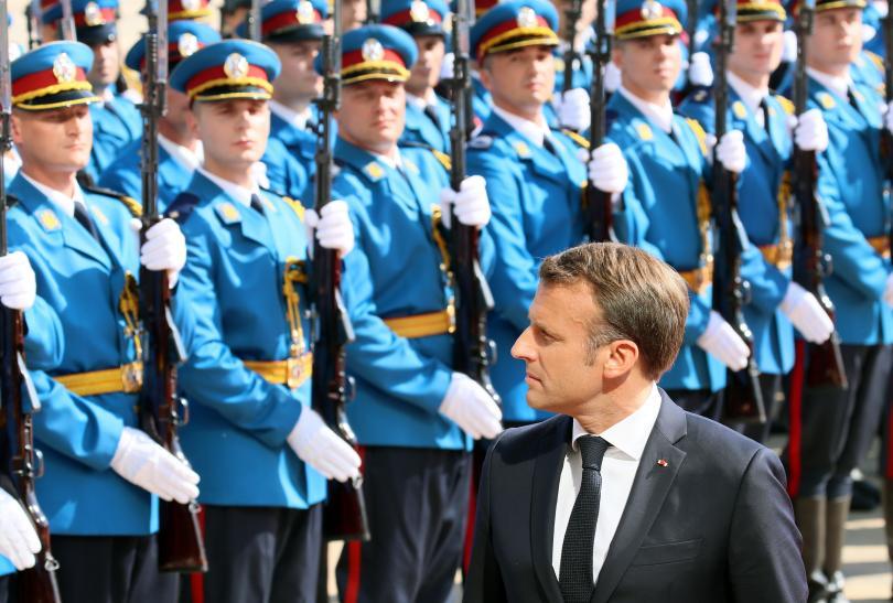 снимка 1 Започна посещението на френския президент Макрон в Сърбия