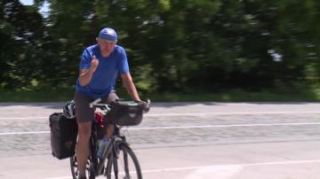 60-годишен сърбин прави велопоход по дунавските паркове