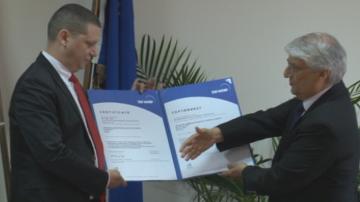 Сертификат Антикорупция за областния управител на София