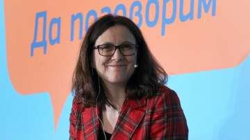 Европейският комисар по въпросите на търговията Сесилия Малмстрьом в София