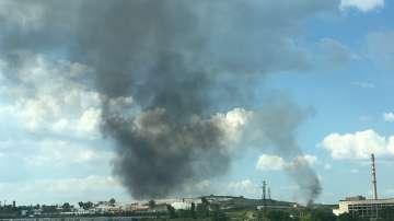 Протест заради пожара в депото за отпадъци край село Шишманци