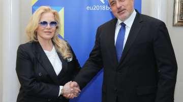 Силви Вартан се срещна с премиера Борисов и с кмета на София Йорданка Фандъкова