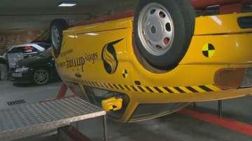 Демонстрация: Как коланът ни предпазва при преобръщане на автомобила