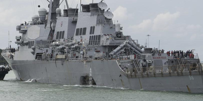 намериха телата десетимата американски моряци бреговете сингапур
