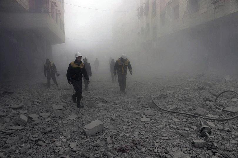 цивилни загинаха въздушни удари бунтовници сирия