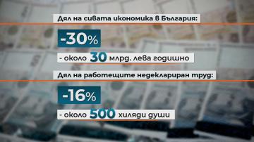 Половин милион българи работят недеклариран труд