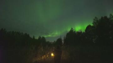 Северно сияние над Финландия