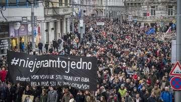 Масови протести в Словакия