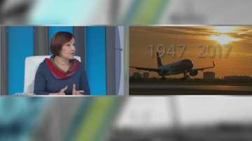 Историята на българската гражданска авиация