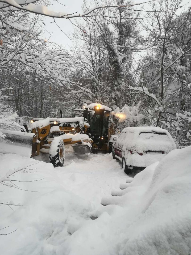 70 см. е натрупаната през последното денонощие снежна покривка в