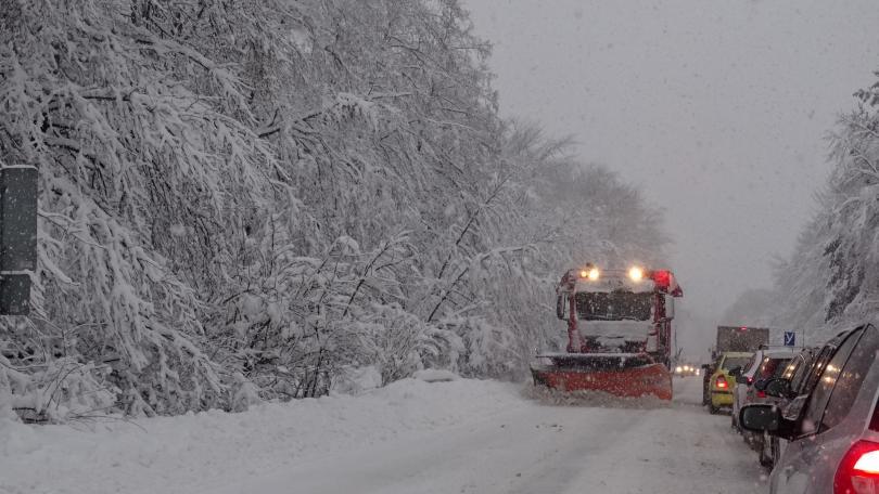 Снимка: Зимата се завърна: Жълт код за сняг и силен вятър в цялата страна