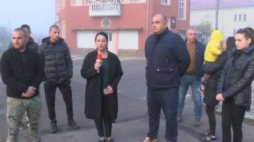 Протест в село Горно Черковище след конфликт между българи и роми